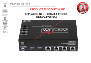 1x4 HDMI Extender/Splitter over Single CAT5 Distribution Amplifier
