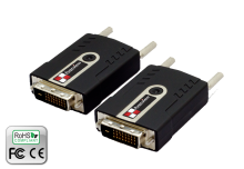 DVI Extender over single LC Fiber with TMDS video and EDID data extends up to 300m