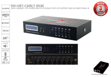 HDMI HDBaseT Lite Matrix Switch 8X8 CAT5e/6/7, 3D Support and Bi-Directional IR with Receivers