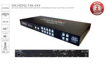 4X4 HDMI 4K60 Matrix Switcher