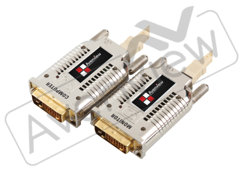 DVI Extender over Fiber with EMI Shielding, extends up to 1000m