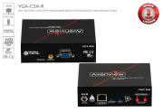 VGA and Audio Receiver over CAT5 with RGB Delay Control