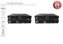 HDMI Extender up to 20 KM over Fiber Optic with IR Support