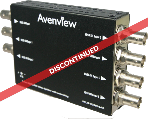 6 Port HD/SD-SDI Video Splitter with reclocking (Discontinued)