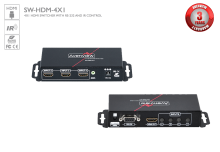 4X1 HDMI Switcher with IR & RS232 Support
