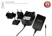 Optional Power Adapter for Fiber Optic Extenders