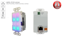 8-Button Wall Plate Control Keypad