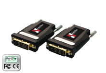 DVI Extender over Fiber with Self-Detecting EDID, EMI Shielding, extends up to 1000m