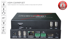HDMI IP / LAN Video Wall Matrix Receiver with IR RS232 Audio and KVM Function