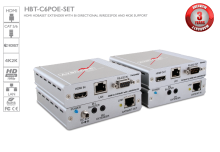 HDBaseT HDMI CAT5/6/7 Extender with POE/LAN/RS-232/ Bi-directional IR 100m