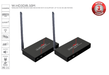 Wireless 5G HDMI Transmitter & Receiver With 1080p and IR Support - 50 meters
