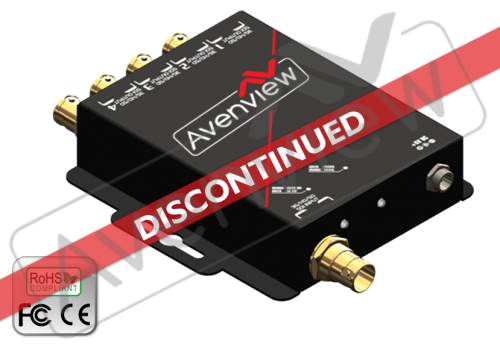 4 Port 3GHD/SD-SDI Video Splitter with Reclocking (Discontinued)