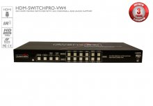 4x4 HDMI Matrix Switcher with Video Wall Function and Audio