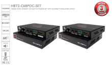 4K@60 HDMI HDBaseT CAT5/6/7 Extender Set with Bi-directional IR, RS-232 and PoC