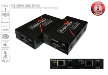 4K DisplayPort Extender over Single SC Fiber Optic Cable