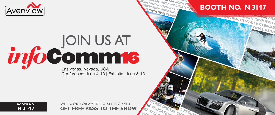 Visit Avenview Booth at InfoComm16
